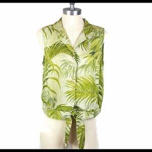 Tommy Bahama Sleeveless 100% Silk Shirt